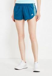Купить Шорты спортивные M18 WOVEN SHORT adidas Performance синий AD094EWUOH86