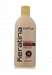 Купить Шампунь Кератиновый укрепляющий для всех типов волос 500 мл Kativa KA009LUASG34