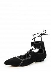 Купить Туфли LOST INK JEMIMA ANKLE STRAP BALLERINA черный LO019AWKLM35 Китай
