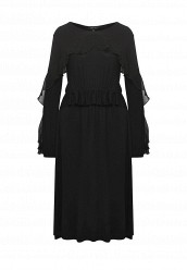 Купить Платье PERLA FRILL TRIM JERSEY DRESS LOST INK черный LO019EWRWB57