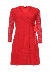 Купить Платье PREMIUM WRAP DRESS IN LACE LOST INK PLUS красный LO035EWRWB32