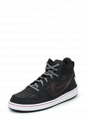 Купить Кеды NIKE COURT BOROUGH MID SE (GS) Nike черный NI464ABUFH62