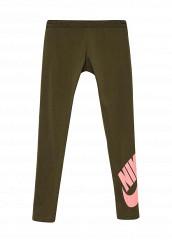 Купить Тайтсы G NSW LEG A SEE LGGNG LOGO Nike хаки NI464EGPDB43