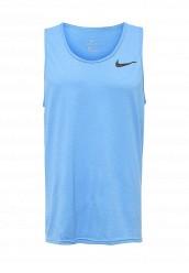 Купить Майка спортивная M NK BRT TANK HPR DRY Nike синий NI464EMRYT14