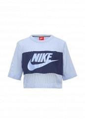 Купить Футболка Nike W NSW TOP CROP MESH голубой NI464EWRZB51 Китай