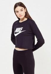 Купить Лонгслив W NSW ESSNTL TOP LS CROP HBR Nike черный NI464EWUGZ17