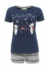 Купить Пижама oodji серый, синий OO001EWOCW65