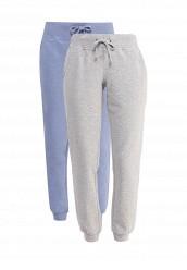 Купить Комплект брюк 2 шт. oodji голубой, серый OO001EWPXN86