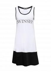 Купить Платье пляжное Twin-Set Simona Barbieri черно-белый TW005EWQOJ78