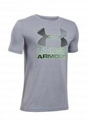 Купить Футболка спортивная UA Hybrid Big Logo Under Armour серый UN001EBTVN01