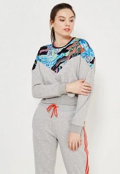 Свитшот, adidas Originals, цвет: серый. Артикул: AD093EWQIN29.
