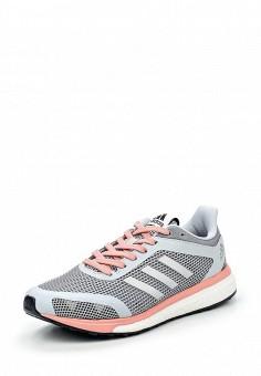 Кроссовки, adidas Performance, цвет: серый. Артикул: AD094AWQIK40. Женская обувь / Кроссовки и кеды
