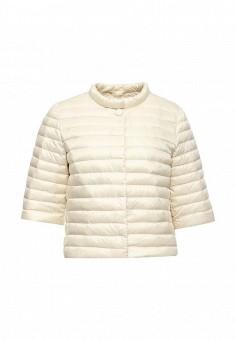 Пуховик, Add, цвет: бежевый. Артикул: AD504EWQIP29. Премиум / Одежда / Верхняя одежда / Пуховики и зимние куртки
