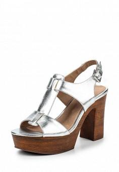 Босоножки, Alesya, цвет: серебряный. Артикул: AL048AWQEJ63. Женская обувь / Босоножки