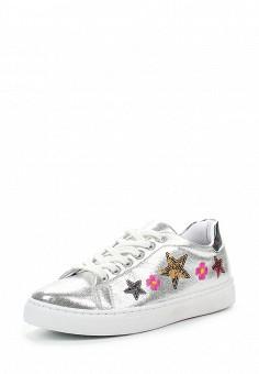 Кеды, Angelo Milano, цвет: серебряный. Артикул: AN053AWQQA15. Женская обувь