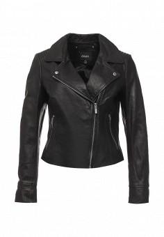 Куртка кожаная, Arma, цвет: черный. Артикул: AR020EWQOF27. Женская одежда / Верхняя одежда / Косухи