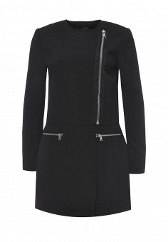 Пальто, Armani Exchange, цвет: черный. Артикул: AR037EWPWS14. Премиум / Одежда / Верхняя одежда / Пальто