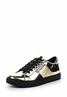 Кеды, Armani Jeans, цвет: золотой. Артикул: AR411AWJSO45. Женщинам / Обувь / Кроссовки и кеды