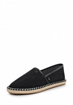 Эспадрильи, Armani Jeans, цвет: черный. Артикул: AR411AWPWC86. Премиум / Обувь