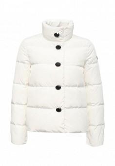 Пуховик, Armani Jeans, цвет: белый. Артикул: AR411EWJSO92. Женская одежда / Верхняя одежда