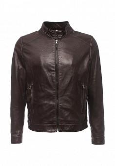 Куртка кожаная, Bata, цвет: коричневый. Артикул: BA060EMQDY26. Мужская одежда / Верхняя одежда / Кожаные куртки