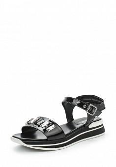 Сандалии, Baldinini, цвет: черный. Артикул: BA097AWPUX71. Премиум / Обувь / Сандалии