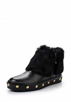 Ботинки, Baldinini, цвет: черный. Артикул: BA097AWTCB56. Женская обувь