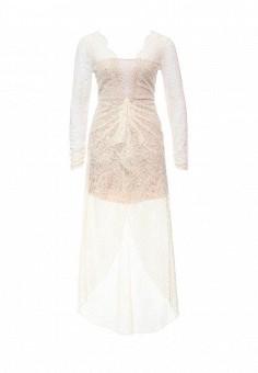 Платье, BCBGMaxAzria, цвет: бежевый. Артикул: BC529EWONL78. Женская одежда / Платья и сарафаны / Вечерние платья