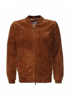 Куртка кожаная, Bellfield, цвет: коричневый. Артикул: BE008EMKYG13. Мужская одежда / Верхняя одежда / Кожаные куртки
