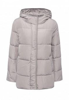 Пуховик, Befree, цвет: серый. Артикул: BE031EWNDL51. Женская одежда / Верхняя одежда / Пуховики и зимние куртки