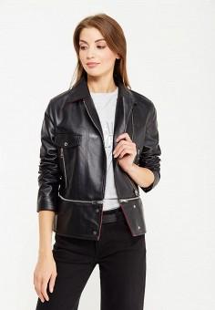 Куртка кожаная, Befree, цвет: черный. Артикул: BE031EWUXN86. Женская одежда / Верхняя одежда / Косухи