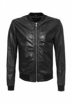 Куртка кожаная, Blouson, цвет: синий. Артикул: BL033EMQGN44. Мужская одежда / Верхняя одежда / Кожаные куртки