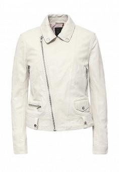 Куртка кожаная, Blouson, цвет: белый. Артикул: BL033EWQGN32. Премиум