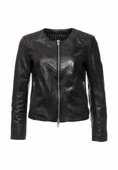 Куртка кожаная, Blouson, цвет: черный. Артикул: BL033EWQGN38. Премиум