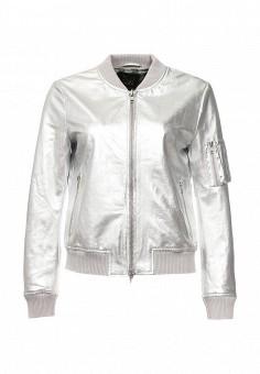 Куртка кожаная, Blouson, цвет: серебряный. Артикул: BL033EWQGN39. Премиум