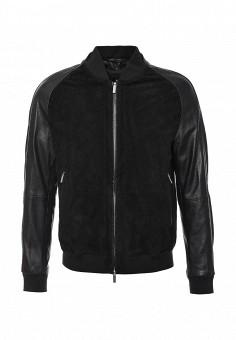 Куртка кожаная, Boss, цвет: черный. Артикул: BO246EMJTR22. Мужская одежда / Верхняя одежда / Кожаные куртки