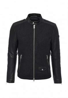 Куртка кожаная, Boss Orange, цвет: черный. Артикул: BO456EMMQL37. Мужская одежда / Верхняя одежда / Кожаные куртки