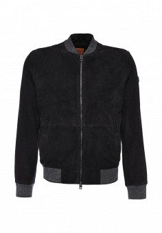Куртка кожаная, Boss Orange, цвет: фиолетовый. Артикул: BO456EMORW42. Мужская одежда / Верхняя одежда / Кожаные куртки