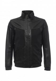 Куртка кожаная, Boss Green, цвет: черный. Артикул: BO984EMNOQ64. Мужская одежда / Верхняя одежда / Кожаные куртки