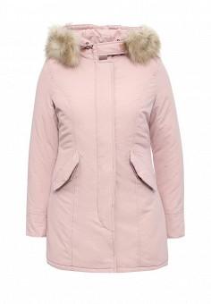 Куртка утепленная, B.Style, цвет: розовый. Артикул: BS002EWMMT87. Женская одежда / Верхняя одежда / Пуховики и зимние куртки