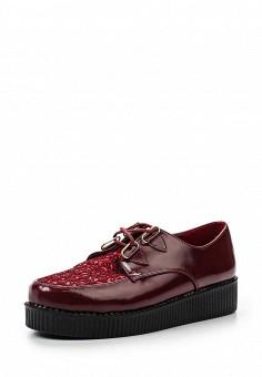 Ботинки, Catisa, цвет: бордовый. Артикул: CA072AWRMS04. Женская обувь / Ботинки / Низкие ботинки