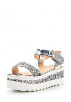 Босоножки, Catisa, цвет: серебряный. Артикул: CA072AWTFO34. Женская обувь / Босоножки