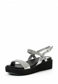 Босоножки, Catisa, цвет: серебряный. Артикул: CA072AWTFO86. Женская обувь / Босоножки