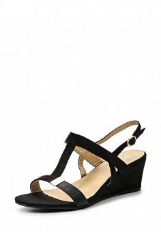 Босоножки, Catisa, цвет: черный. Артикул: CA072AWTFP03. Женская обувь / Босоножки