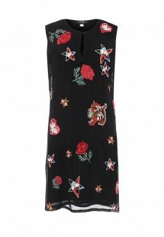 Платье, Cavalli Class, цвет: черный. Артикул: CA078EWOLQ39. Женская одежда / Платья и сарафаны / Летние платья