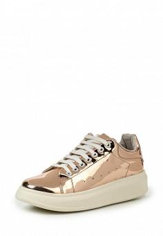 Кеды, Coolway, цвет: золотой. Артикул: CO047AWRWR37. Женская обувь / Кроссовки и кеды