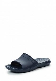 Сланцы, Crocs, цвет: синий. Артикул: CR014AUREC76. Женская обувь / Шлепанцы и акваобувь