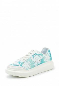 Кеды, Dino Ricci Trend, цвет: бирюзовый. Артикул: DI029AWQYY14. Женская обувь / Кроссовки и кеды