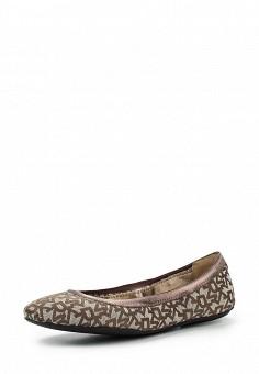 Балетки, DKNY, цвет: коричневый. Артикул: DK001AWIRK85. Премиум / Обувь / Балетки