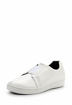 Слипоны, DKNY, цвет: белый. Артикул: DK001AWPVI02. Премиум / Обувь